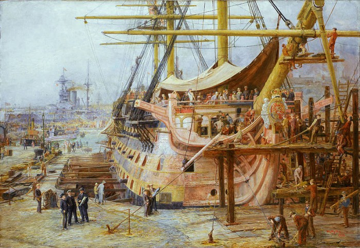 800px-Restoring_HMS_Victory,_by_William_Lionel_Wyllie